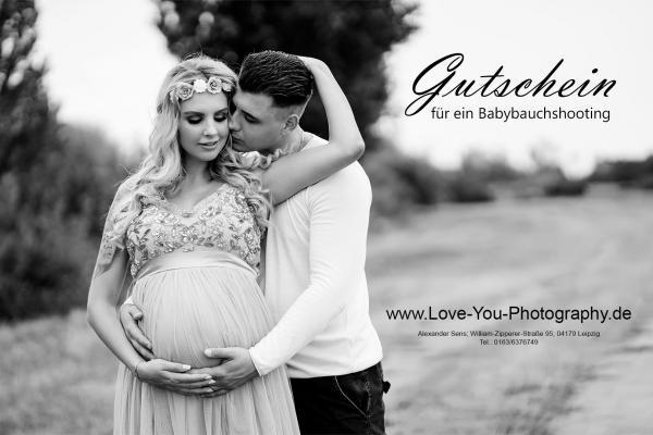 Babybauch Schwangerschaft Shooting Gutschein Leipzig Fotograf