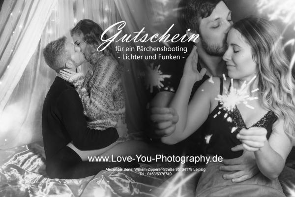 Paarshooting Leipzig Fotograf romantisch Gutschein Fotostudio